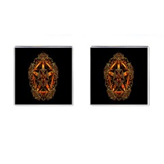 3d Fractal Jewel Gold Images Cufflinks (square) by Simbadda