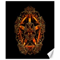 3d Fractal Jewel Gold Images Canvas 8  X 10  by Simbadda