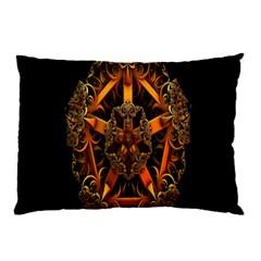 3d Fractal Jewel Gold Images Pillow Case by Simbadda
