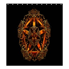 3d Fractal Jewel Gold Images Shower Curtain 66  X 72  (large)  by Simbadda