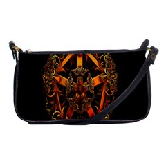 3d Fractal Jewel Gold Images Shoulder Clutch Bags by Simbadda