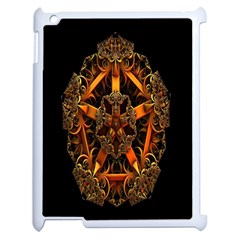 3d Fractal Jewel Gold Images Apple Ipad 2 Case (white) by Simbadda