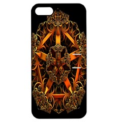 3d Fractal Jewel Gold Images Apple Iphone 5 Hardshell Case With Stand by Simbadda