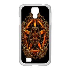 3d Fractal Jewel Gold Images Samsung Galaxy S4 I9500/ I9505 Case (white) by Simbadda