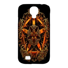 3d Fractal Jewel Gold Images Samsung Galaxy S4 Classic Hardshell Case (pc+silicone) by Simbadda