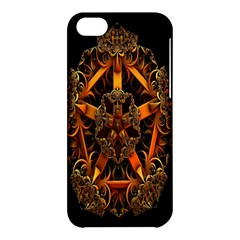 3d Fractal Jewel Gold Images Apple Iphone 5c Hardshell Case by Simbadda