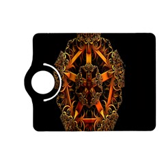 3d Fractal Jewel Gold Images Kindle Fire Hd (2013) Flip 360 Case by Simbadda