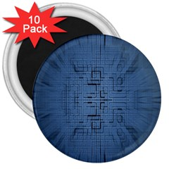Zoom Digital Background 3  Magnets (10 Pack)  by Simbadda