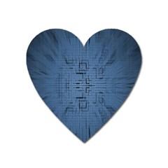 Zoom Digital Background Heart Magnet by Simbadda