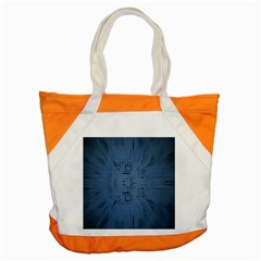 Zoom Digital Background Accent Tote Bag by Simbadda