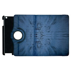Zoom Digital Background Apple Ipad 3/4 Flip 360 Case by Simbadda