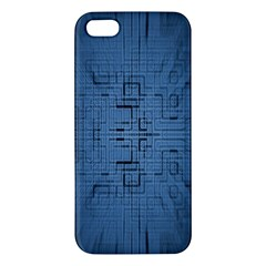 Zoom Digital Background Apple Iphone 5 Premium Hardshell Case by Simbadda