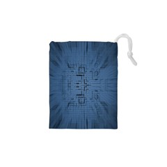Zoom Digital Background Drawstring Pouches (xs)  by Simbadda