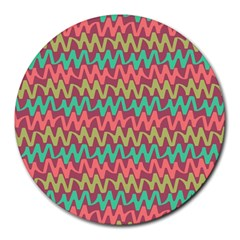 Abstract Seamless Abstract Background Pattern Round Mousepads by Simbadda
