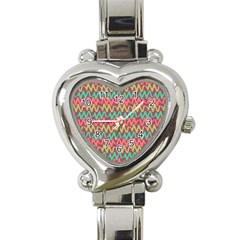 Abstract Seamless Abstract Background Pattern Heart Italian Charm Watch by Simbadda