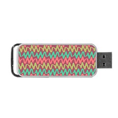 Abstract Seamless Abstract Background Pattern Portable Usb Flash (one Side) by Simbadda