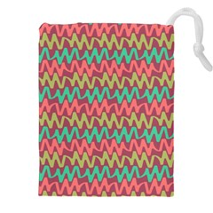 Abstract Seamless Abstract Background Pattern Drawstring Pouches (xxl)