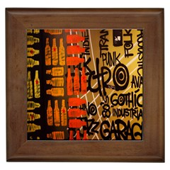 Graffiti Bottle Art Framed Tiles