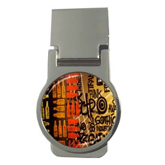 Graffiti Bottle Art Money Clips (round)  by Simbadda