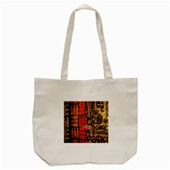 Graffiti Bottle Art Tote Bag (cream) by Simbadda