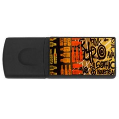 Graffiti Bottle Art Usb Flash Drive Rectangular (4 Gb) by Simbadda