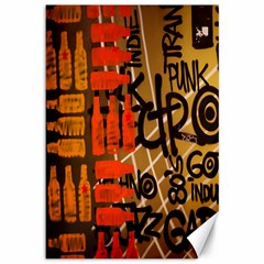 Graffiti Bottle Art Canvas 12  X 18   by Simbadda