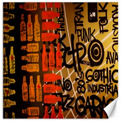 Graffiti Bottle Art Canvas 16  X 16   by Simbadda