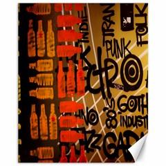 Graffiti Bottle Art Canvas 11  X 14   by Simbadda