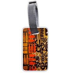 Graffiti Bottle Art Luggage Tags (one Side)  by Simbadda