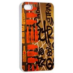 Graffiti Bottle Art Apple Iphone 4/4s Seamless Case (white) by Simbadda