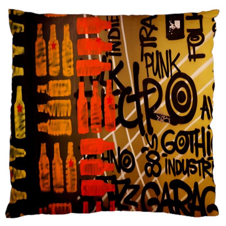 Graffiti Bottle Art Large Cushion Case (Two Sides)