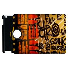 Graffiti Bottle Art Apple Ipad 2 Flip 360 Case by Simbadda