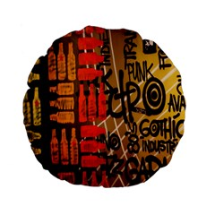 Graffiti Bottle Art Standard 15  Premium Flano Round Cushions by Simbadda