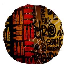 Graffiti Bottle Art Large 18  Premium Flano Round Cushions by Simbadda