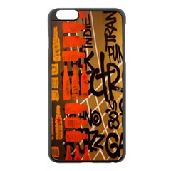 Graffiti Bottle Art Apple Iphone 6 Plus/6s Plus Black Enamel Case by Simbadda