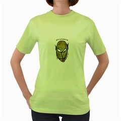 Scary Vampire Drawing Women s Green T Shirt by dflcprints