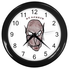 Scary Vampire Drawing Wall Clocks (black) by dflcprints