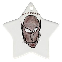 Scary Vampire Drawing Star Ornament (two Sides) by dflcprints