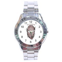 Scary Vampire Drawing Stainless Steel Analogue Watch by dflcprints