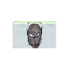 Scary Vampire Drawing Cosmetic Bag (xs) by dflcprints