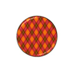 Argyle Pattern Background Wallpaper In Brown Orange And Red Hat Clip Ball Marker (10 Pack) by Simbadda