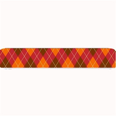 Argyle Pattern Background Wallpaper In Brown Orange And Red Small Bar Mats by Simbadda