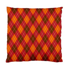 Argyle Pattern Background Wallpaper In Brown Orange And Red Standard Cushion Case (two Sides) by Simbadda