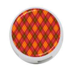 Argyle Pattern Background Wallpaper In Brown Orange And Red 4 Port Usb Hub (two Sides)  by Simbadda