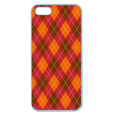 Argyle Pattern Background Wallpaper In Brown Orange And Red Apple Seamless Iphone 5 Case (color) by Simbadda