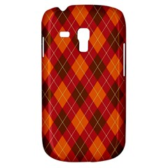 Argyle Pattern Background Wallpaper In Brown Orange And Red Galaxy S3 Mini by Simbadda