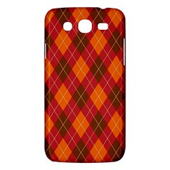 Argyle Pattern Background Wallpaper In Brown Orange And Red Samsung Galaxy Mega 5 8 I9152 Hardshell Case  by Simbadda