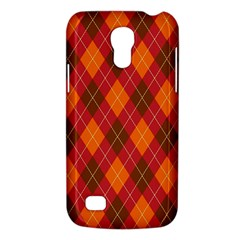 Argyle Pattern Background Wallpaper In Brown Orange And Red Galaxy S4 Mini by Simbadda