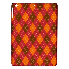 Argyle Pattern Background Wallpaper In Brown Orange And Red Ipad Air Hardshell Cases by Simbadda