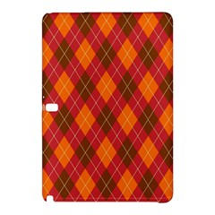 Argyle Pattern Background Wallpaper In Brown Orange And Red Samsung Galaxy Tab Pro 12 2 Hardshell Case by Simbadda